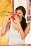 Рано утром модельный кофе стоковое фото