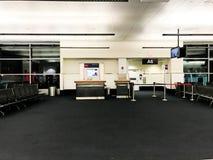 Рано утром на международном аэропорте Logan, Бостон, МАМЫ стоковая фотография