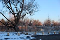 Рано утром на реке Welland Стоковое Фото