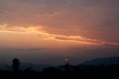 Рано утром подъем солнца в itanagar, Arunachal Pradesh Стоковые Фото