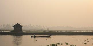 Рано утром снял от Kadamakudy Стоковые Фотографии RF