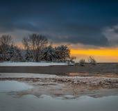 Рано утром с первым снегом Стоковые Фотографии RF