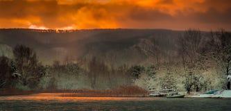 Рано утром с первым снегом Стоковые Изображения