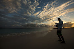 Рано утром flyfisher Стоковое фото RF