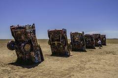 Ранчо Кадиллака, Амарилло Техас Стоковое фото RF