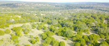 Ранчо Техаса вида с воздуха в временени Стоковые Фото