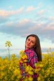 рапс девушки Стоковое Фото