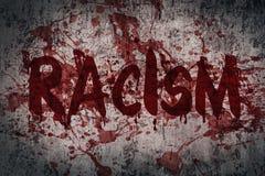 Расизм литерности на пакостной стене стоковая фотография rf