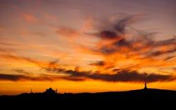 раскаленное добела небо Стоковые Фотографии RF