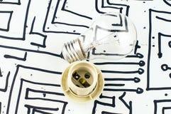 раскаленный добела светильник стоковое изображение