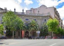 расквартировывает старую улицу Барселона Испания Стоковая Фотография