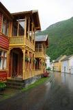 расквартировывает lyrdal деревянное Норвегии традиционное Стоковое фото RF