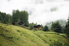 Расквартируйте деревню на городе Madonna di Senales в городе Schnals Стоковое Изображение RF