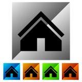 Расквартируйте значок в цвете 5 для концепции недвижимости/домашней кнопки Стоковые Фото