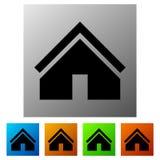Расквартируйте значок в цвете 5 для концепции недвижимости/домашней кнопки бесплатная иллюстрация