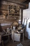 Расквартируйте музей, историческая русская хата в котором была рожденным Chapaev Стоковая Фотография
