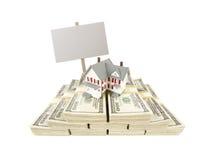 Расквартируйте на долларах сотни и прикройте знак Стоковые Изображения