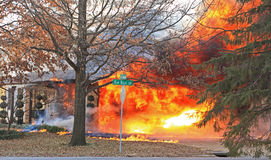 Пожар на блефе 4 дуба стоковая фотография