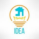 Расквартируйте сделанный значок в современной чистой и простой квартире Стоковая Фотография RF