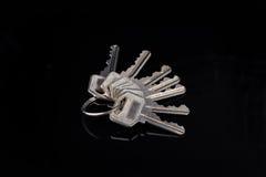 Расквартируйте цепь ключей для замка безопасностью на двери Стоковое фото RF