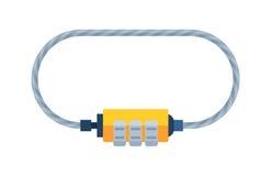 Расквартируйте элемент уединения пароля велосипеда безопасности вектора значка оборудования доступа замка внешний с ключом и padl иллюстрация штока