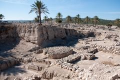 Раскопки археологии в Израиле Стоковые Изображения