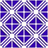 Раскосные белые рамки и темносиняя картина иллюстрация вектора