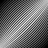 Раскосные линии, нашивки с выпуклым искажением, Стоковая Фотография RF