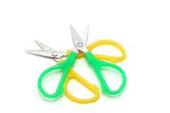 раскосный зеленый желтый цвет ножниц Стоковые Изображения