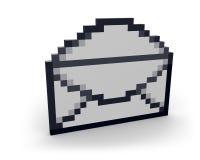 раскосный пиксел письма Стоковое Фото