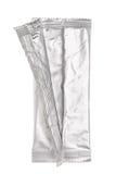 Раскройте алюминиевую сумку изолированную на белизне Стоковое Фото