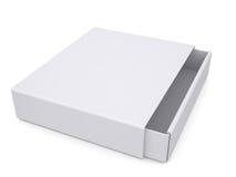 Раскройте белую коробку Стоковое Фото