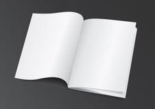 Раскройте белую пустую кассету брошюры для насмешки вверх - Vector Illustra Стоковое фото RF