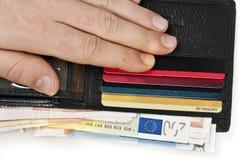 раскройте бумажник Стоковая Фотография
