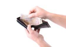 Раскройте бумажник Стоковое Изображение RF