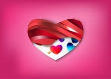 Раскройте ваше сердце для влюбленности или некоторой вещи Стоковое Изображение RF