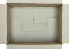 Раскройте взгляд сверху картонной коробки Стоковое Изображение