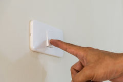 Раскройте выключатель на стене Стоковая Фотография