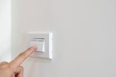 Раскройте выключатель на стене Стоковое Фото