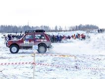 Раскройте гонки зимы внедорожные стоковые фотографии rf