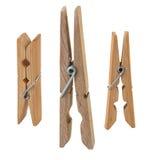 Раскройте деревянный clothespin Стоковые Фотографии RF