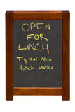 Раскройте для обеда Стоковая Фотография