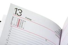 Раскройте дневник Стоковое фото RF
