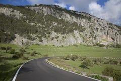 Раскройте дорогу в национальном парке Grazalema Стоковое Изображение RF