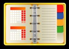 Раскройте ежедневного плановика Стоковые Фотографии RF