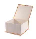 Раскройте декоративную коробку изолированную на белизне Стоковая Фотография RF