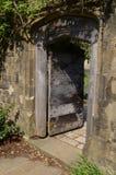 Раскройте деревянную дверь Стоковое Фото