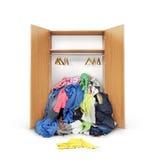 Раскройте деревянный шкаф Стоковые Изображения