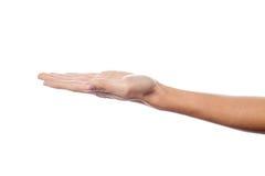 Раскройте жест рукой ладони мужской руки Стоковые Изображения