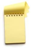 Раскройте желтый блокнот стоковое фото rf